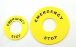 22mm emergency stop push button switch label frame