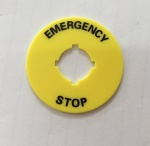 16mm emergency stop push button switch label frame